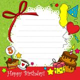 Birthday Card 2. Birthday Card with elements of a circle part-2 Stock Photography