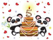 Birthday card ,five years Stock Photo