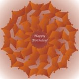 Birthday card with floral decoration. (vector illustration stock illustration