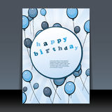 Birthday Card, Flyer or Cover Design Royalty Free Stock Photography