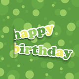 Birthday Card, Flyer or Cover Design Stock Photo