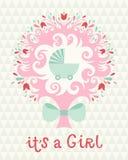Birthday card for girl Stock Photos