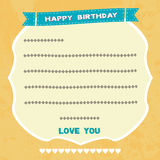 Birthday card3 Stock Image