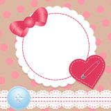 Birthday card with heart,lace and bow. Contains a Stock Images