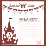 Birthday card for little princess Stock Images