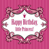 Birthday card for little princess Stock Photo