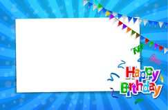 Birthday card with paper sign Royalty Free Stock Photography
