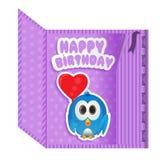 Birthday card purple Royalty Free Stock Photography