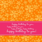 Birthday card with retro flower background Royalty Free Stock Photos