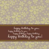 Birthday card with retro flower background Royalty Free Stock Photography