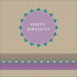 Birthday card . with seamless pattern background Royalty Free Stock Photography