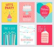 Birthday card set. Stock Images