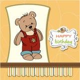 Birthday card with teddy bear Stock Photo