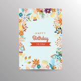 Birthday card template Stock Image