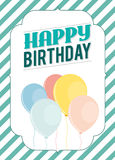Birthday card template. Colorful and festive birthday card design Stock Photo