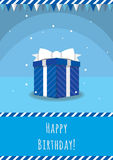Birthday card template. Colorful and festive birthday card design Stock Images