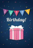 Birthday card template. Colorful and festive birthday card design Royalty Free Stock Photos