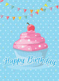 Birthday card template. Colorful and festive birthday card design Royalty Free Stock Photography
