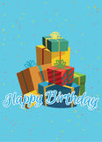 Birthday card template. Colorful and festive birthday card design Royalty Free Stock Photo