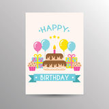Birthday card template Royalty Free Stock Image