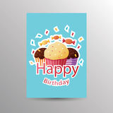 Birthday card template Stock Photos