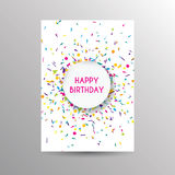 Birthday card template. Colorful and festive birthday card design Stock Image