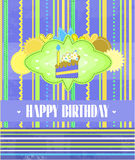 Birthday card with text Royalty Free Stock Photos