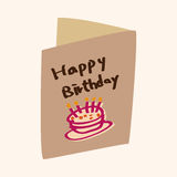 Birthday card theme elements vector,eps Stock Photo