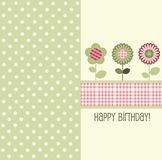 Birthday card, vector Royalty Free Stock Photos