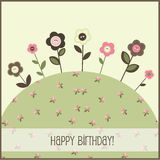 Birthday card, vector Royalty Free Stock Images
