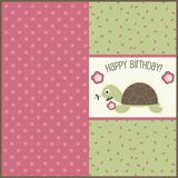 Birthday card, vector Stock Photography