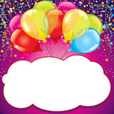 Birthday Card. Vector Royalty Free Stock Photos