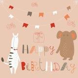 Birthday card Royalty Free Stock Photography