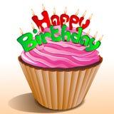 Birthday Card With Ice Cream Stock Photos