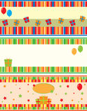 Birthday cards. Three different birthday cards. Illustration Stock Images