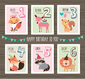 Birthday cards Royalty Free Stock Images