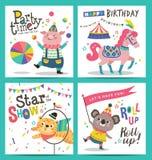 Birthday cards royalty free illustration