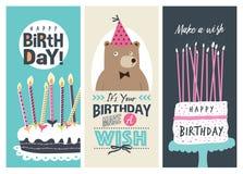 Birthday cards stock illustration