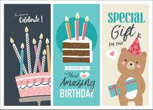 Birthday cards vector illustration