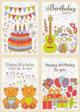 Birthday cards set Royalty Free Stock Photography
