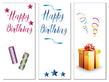 Birthday cards on a white background Stock Photo