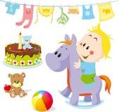 Birthday cartoon Stock Photography