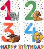Birthday cartoon design for girl Stock Images