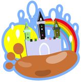 colorful Birthday castle isolated Stock Photography