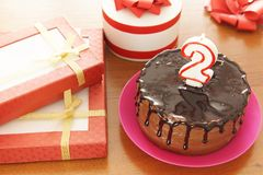 Free Birthday Celebration At Two Years Stock Images - 142475754