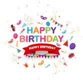 Birthday celebration background with festive icon. Illustration of Birthday celebration background with festive icon Stock Photo