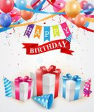 Birthday and celebration background Stock Image