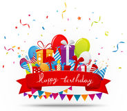 Birthday celebration background with party elements Stock Images