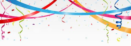 Birthday and celebration banner Royalty Free Stock Photos