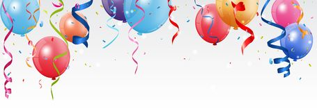 Birthday and celebration banner Stock Photography